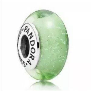 PANDORA 💚 Tinkerbell Murano Glass Sliding Charm